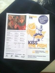 Kiss the Fish NZ tour brochure   Photo Rosemary Balu