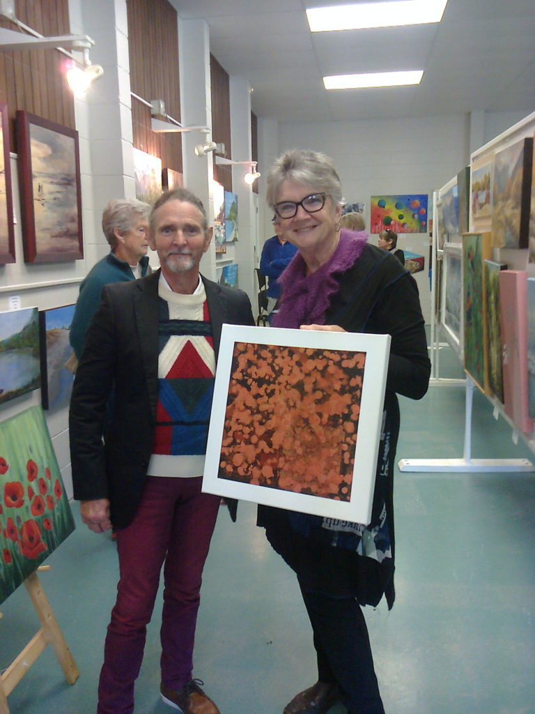 ARTbop's Sam the Poet and Miriam Ruberl, Artist, Art Tutor and ARTbop Rotorua Correspondent