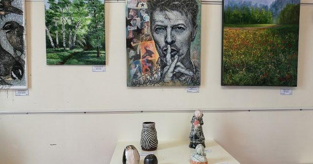 Birgitt Shannon at the Paeroa Society of Arts Exhibition