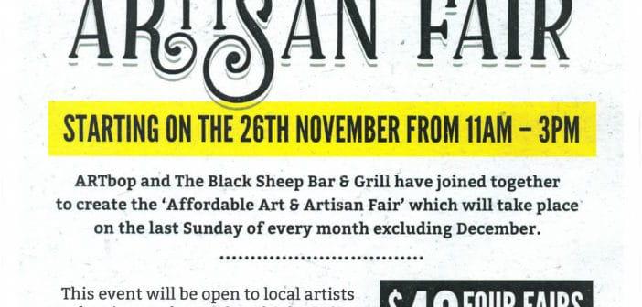 uPflash:  Affordable Art & Artisan Fair starts 26 November