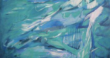 Stella Clark paints at Imprint Gallery